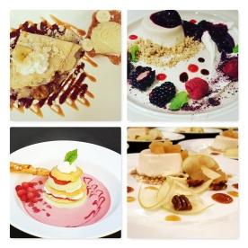 Dessert Course Menu Sample Pics