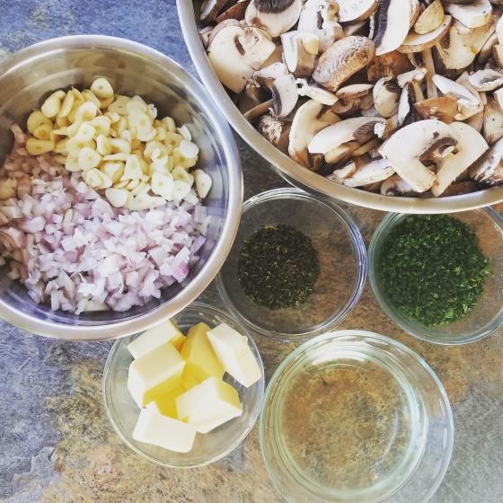 Cream of Mushroom Soup Recipe Mise en Place